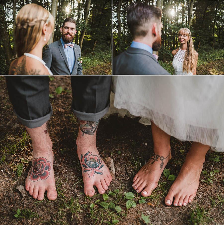 Brautpaar liebt es barfuß zu sein