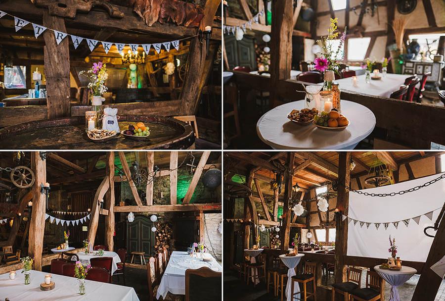 Rustikale Hochzeitslocation nahe Wiesbaden mit viel Holz