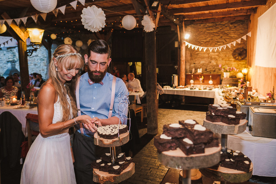 Torte anschneiden in der Guldenmühle
