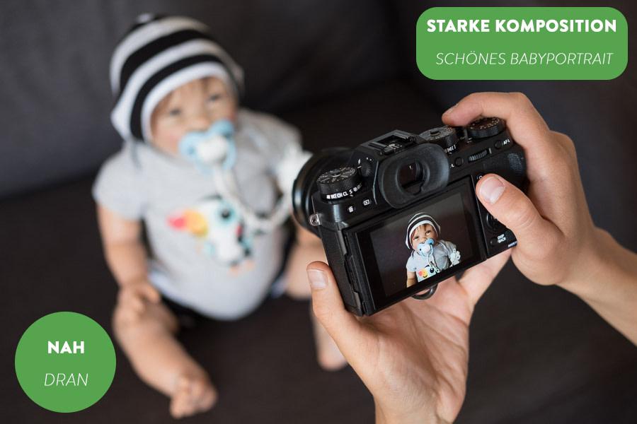 Veranschaulichung Baby von passender Entfernung fotografiert